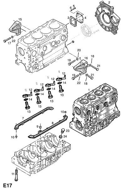 25d - s8u-758,s8u-780,s8u-782 дизельные двигатели (Двигатель и сцепление)