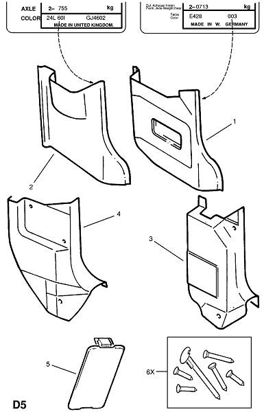 Отделка стороны кузова (Внутренняя отделка кузова)