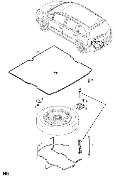 Фитинги запасного колеса (Колеса)