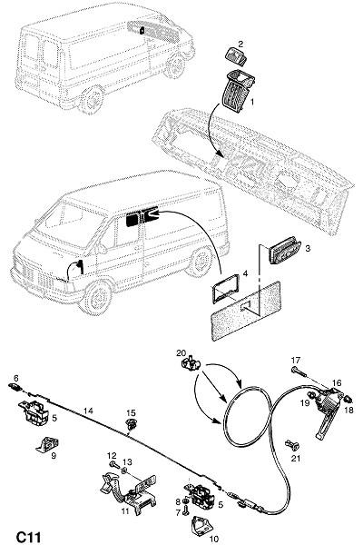 Механизм замыкания капота (Внутренние приспособления для кузова)