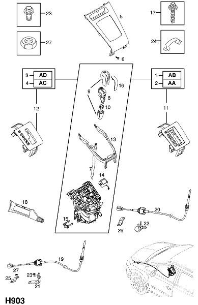 Регулятор переключения передач - используется с автоматической трансмиссией (Трансмиссия)