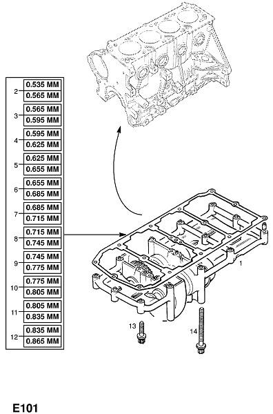 Бензиновые двигатели x20xer,x20xev (Двигатель и сцепление)