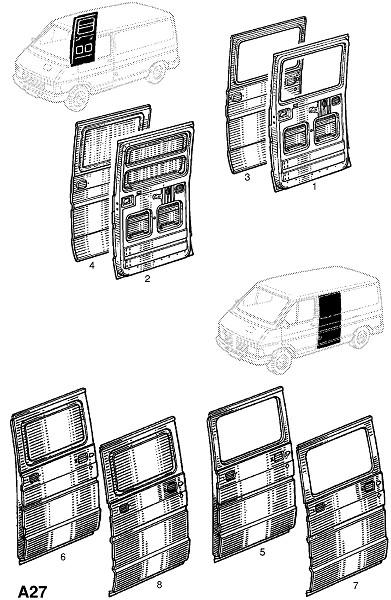 Дверь (Каркас и панели кузова)