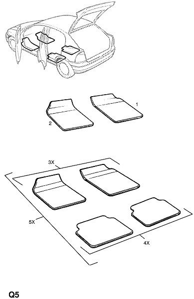 Внутренняя отделка кузова (Принадлежности)