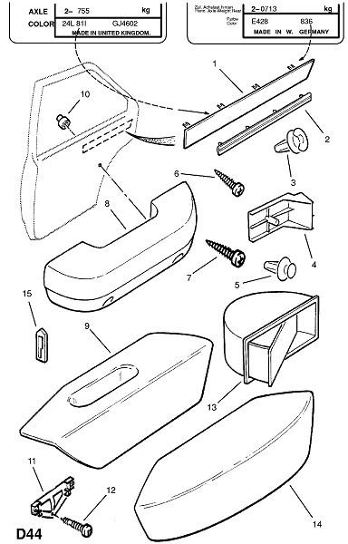 Отделка двери (Внутренняя отделка кузова)