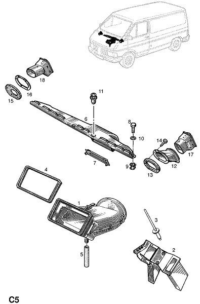 Обогреватель и вентиляция (Внутренние приспособления для кузова)