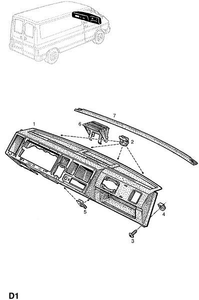 Отделка приборного щитка и консоли (Внутренняя отделка кузова)