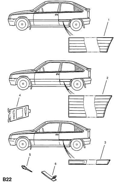 Профили кузова (Внешние приспособления для кузова)