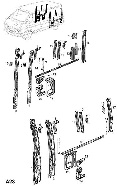 Задняя четверть (Каркас и панели кузова)