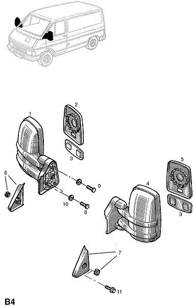 Зеркало заднего вида двери (Внешние приспособления для кузова)