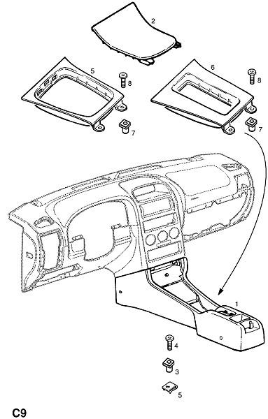 Передняя туннельная консоль (Внутренние приспособления для кузова)