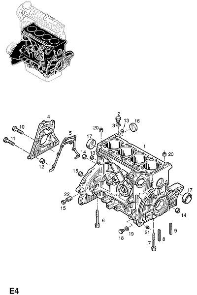 19d - f8q-600,f8q-606 дизельные двигатели (Двигатель и сцепление) .