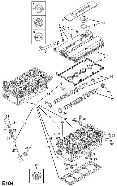 Z18xer бензиновый двигатель (Двигатель и сцепление)
