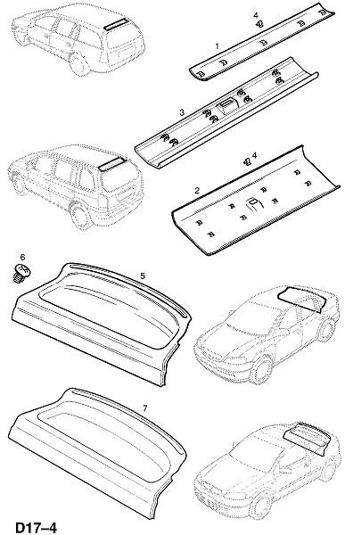 Отделка верха и задней полки (Внутренняя отделка кузова)