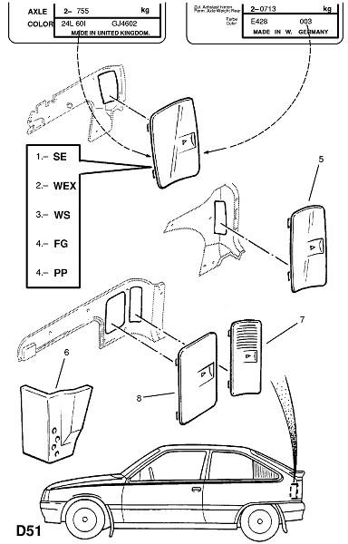 Задняя концевая отделка (Внутренняя отделка кузова)
