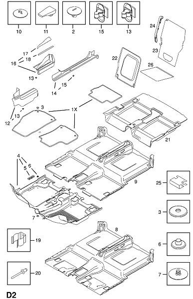 Напольные коврики (Внутренняя отделка кузова)