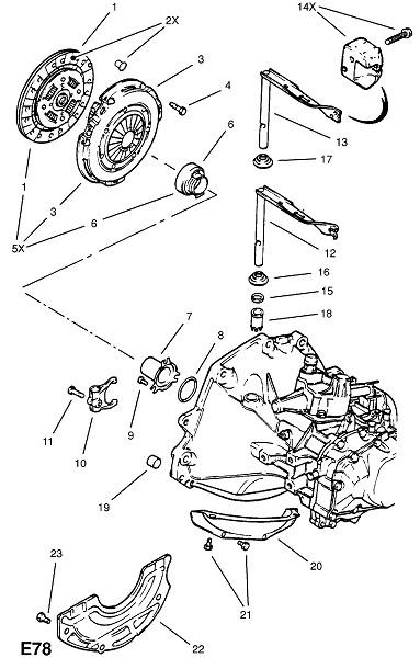 18e,18se бензиновые двигатели (Двигатель и сцепление)