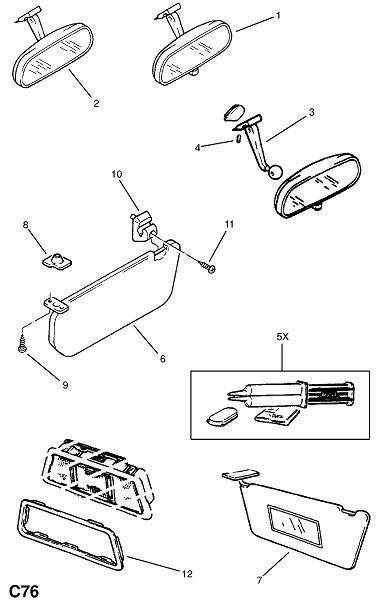 Солнцезащитный козырек (Внутренние приспособления для кузова)