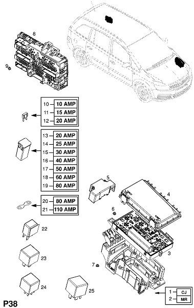 Коробка предохранителей,предохранители и реле (Электрика)