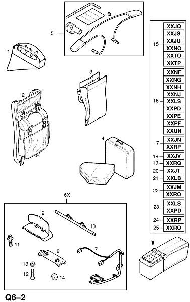 Внутренние приспособления для кузова (Принадлежности)