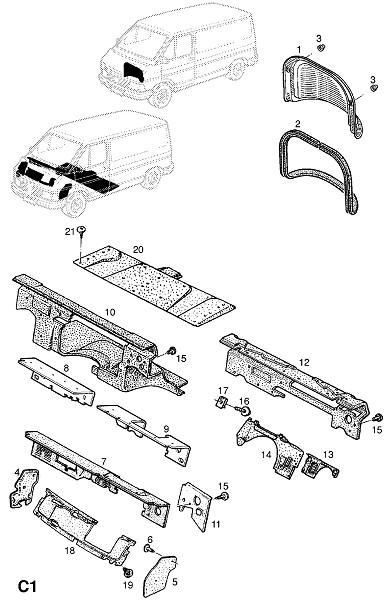 Изоляторы (Внутренние приспособления для кузова)