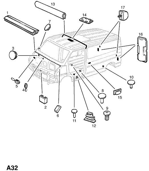 Пробки,втулки,уплотнения (Каркас и панели кузова)