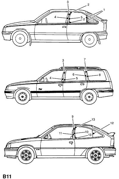 Стилевые полоски на кузове (Внешние приспособления для кузова)