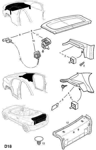 Крышка грузового отделения (Внутренняя отделка кузова)