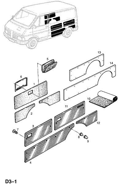 Отделка задней боковой стороны кузова (Внутренняя отделка кузова)