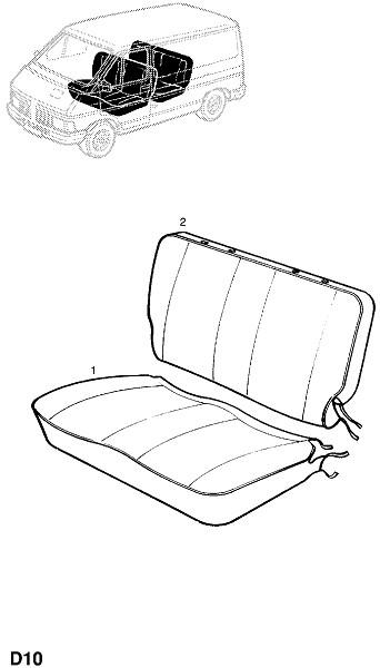 Отделка переднего многоместного сидения (Внутренняя отделка кузова)