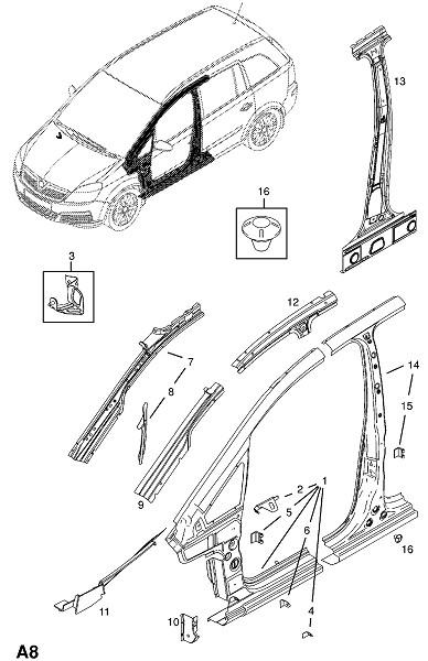 Сторона кузова (Каркас и панели кузова)