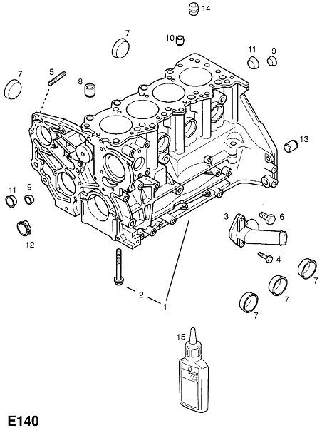 Дизельные двигатели y17dt,z17dtl (Двигатель и сцепление)