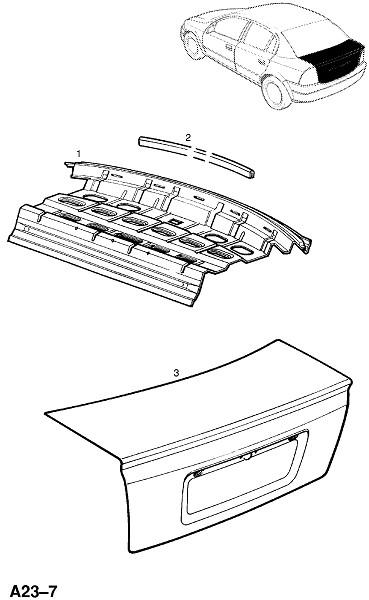 Панель задней полки (Каркас и панели кузова)
