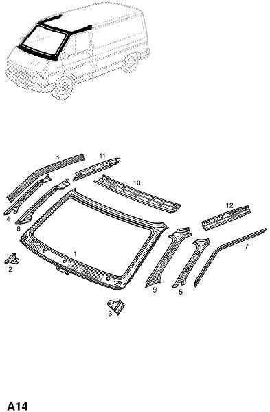Передняя панель и лючок (Каркас и панели кузова)