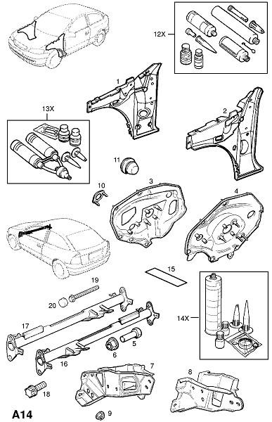 Передняя панель (Каркас и панели кузова)