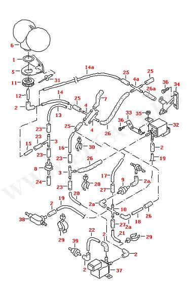 Вакуумные шланги для моделей с дополнительным отопителем (Кузов)