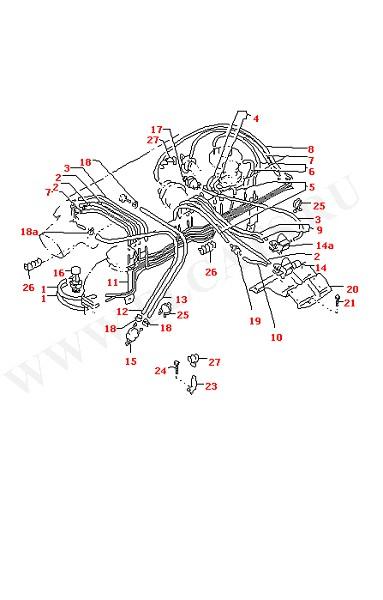 Вакуумные шланги с соединительными частями (Двигатель, Сцепление)