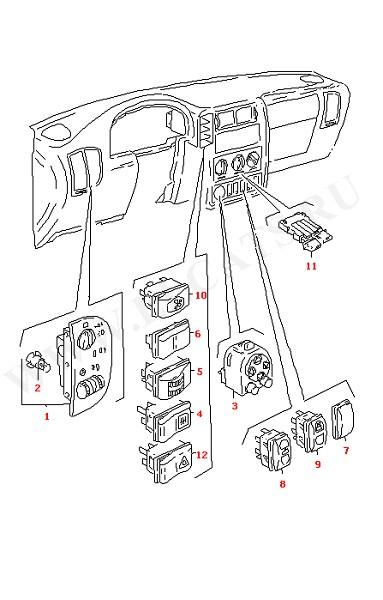 Выключатели на приборной панели (Электрика)