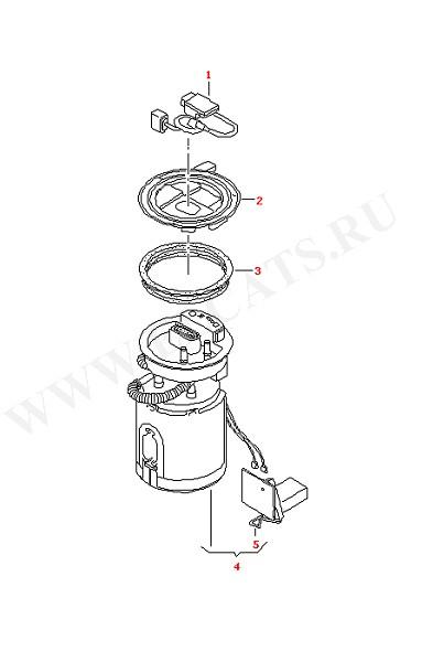 Блок подачи топлива и топливный датчик Блок управления устройства подачи топлива (Электрика)