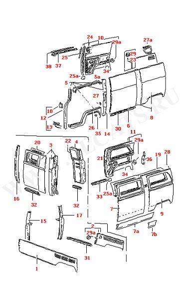Боковая панель Передняя стойка Центральная стойка кузова (Кузов)