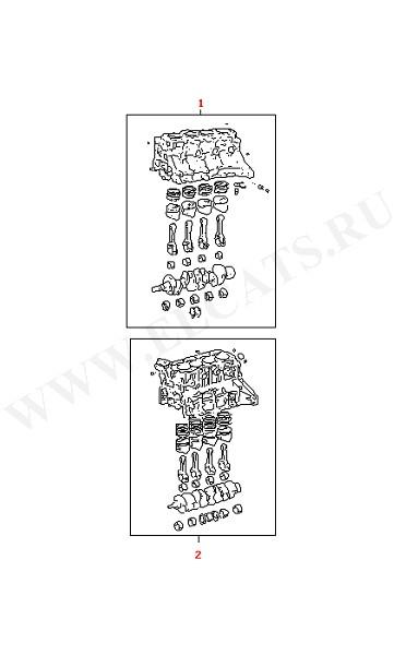 Блок цилиндров с поршнями Коленчатый вал Шатун Вкладыши (Двигатель, Сцепление)
