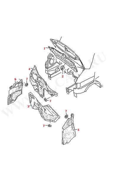Амортизатор отсека двигателя (Кузов)