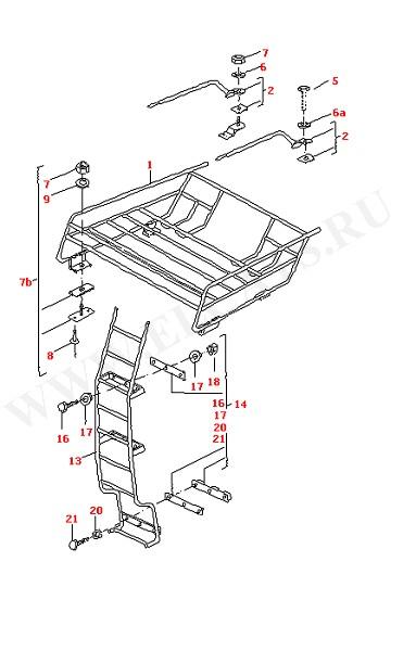 Багажник на крыше Лестница (Дополнительное оборудование)