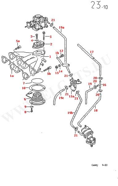 Впускная система для моделей с карбюратором KEIHIN (Двигатель, Сцепление)
