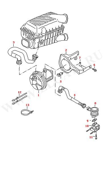 Вторичный нагнетатель воздуха (Двигатель, Сцепление)