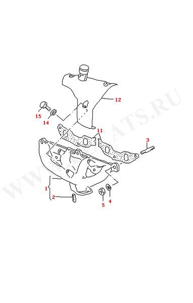 Выпускной коллектор (Топливная система, Система выпуска ОГ, Отопитель)