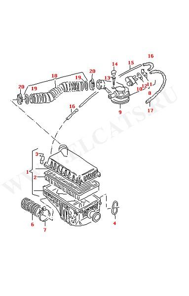 Воздушный фильтр (Двигатель, Сцепление)