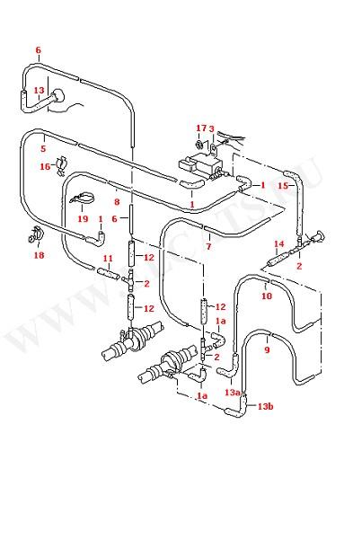 Вакуумные шланги с соединительными частями для моделей с отопителем с механической регулировкой для автомобилей с кондиционером (Кузов)