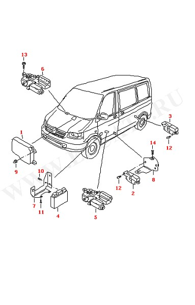 Блок управления подушки безопасности Центральный блок управления Моторчик стеклоподъемника (Электрика)