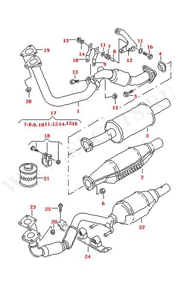 Выхлопная труба Катализатор (Топливная система, Система выпуска ОГ, Отопитель)